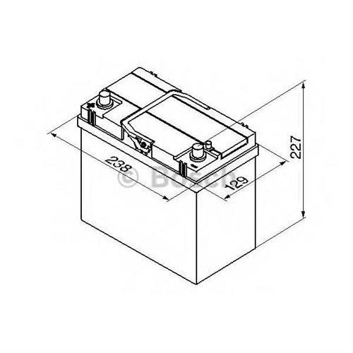 Аккумуляторная батарея 19.5/17.9 прямая полярность 45Ah 330A 238/129/227 BOSCH 0092S40230
