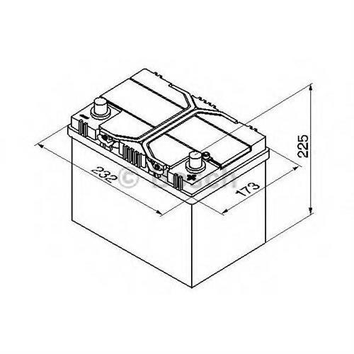 Аккумуляторная батарея 19.5/17.9 евро полярность 60Ah 540A 232/173/225 BOSCH 0092S40240