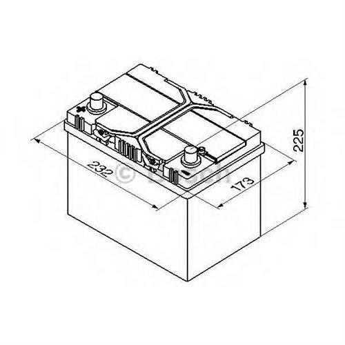 Аккумуляторная батарея 19.5/17.9 прямая полярность 60Ah 540A 232/173/225 BOSCH 0092S40250