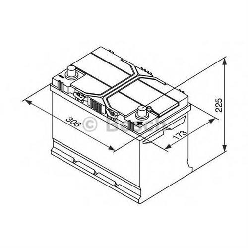 Аккумуляторная батарея 19.5/17.9 евро полярность 95Ah 830A 306/173/225 BOSCH 0092S40280