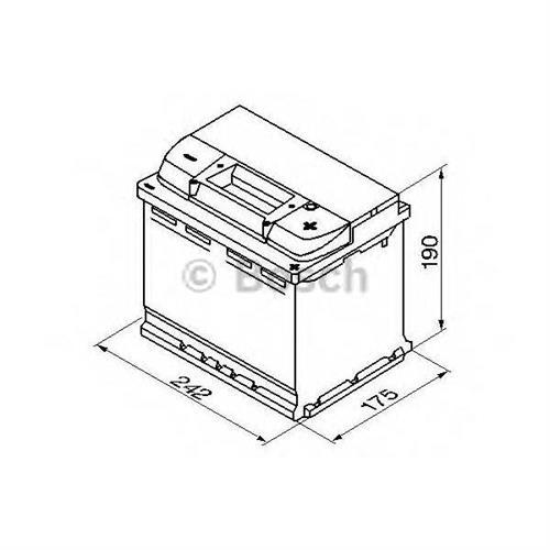 Аккумуляторная батарея 19.5/17.9 евро полярность 63Ah 610A 242/175/190 BOSCH 0092S50050