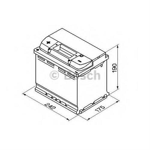 Аккумуляторная батарея 19.5/17.9 прямая полярность 63Ah 610A 242/175/190 BOSCH 0092S50060