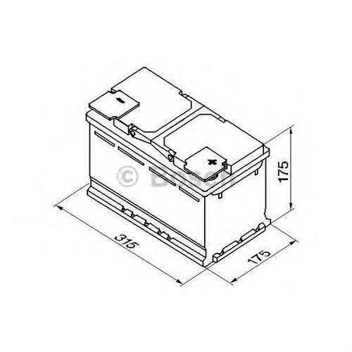 Аккумуляторная батарея 19.5/17.9 евро полярность 85Ah 800A 315/175/175 BOSCH 0092S50100