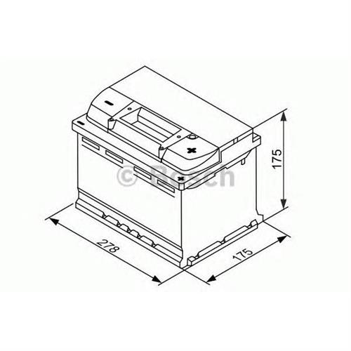 Аккумуляторная батарея EFB 19.5/17.9 евро полярность 65Ah 650A 278/175/175 BOSCH 0092S4E070