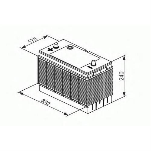 Аккумулятор L4 12V 105Ah 570A 330х175х240 Полярность 9 Клеммы 1 Крепление B00 BOSCH 0092L40330