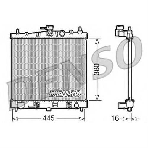 Радиатор DENSO DRM46021