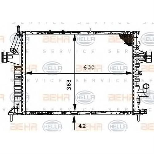 Радиатор длина 600 mm BEHR-HELLA 8MK376712601