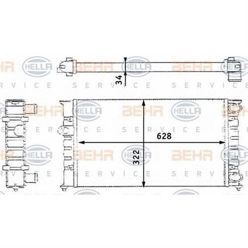Радиатор BEHR HELLA SERVICE 8MK376713424