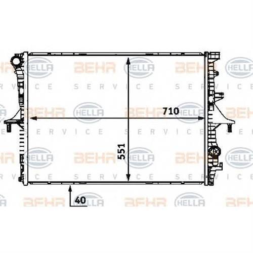 Радиатор [710x551] BEHR HELLA SERVICE 8MK376719004