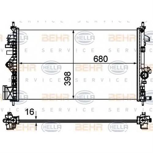 Радиатор [680x398] BEHR HELLA SERVICE 8MK376754321