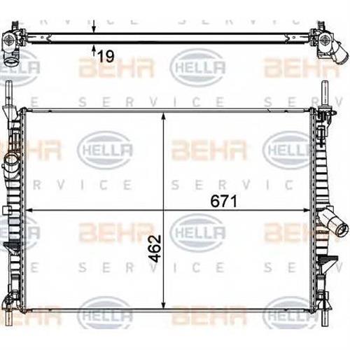 Радиатор BEHR HELLA SERVICE 8MK376764501