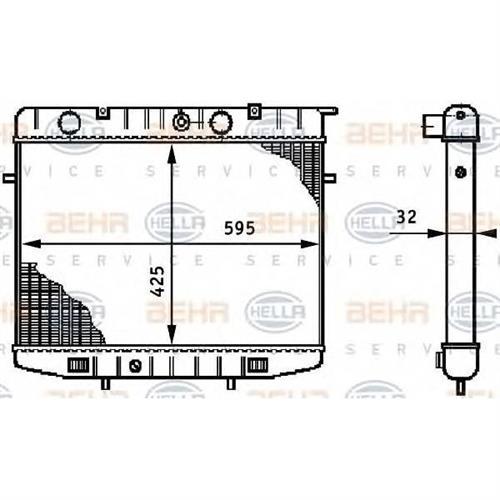 Радиатор [425x595] BEHR HELLA SERVICE 8MK376708601