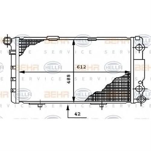 Радиатор BEHR HELLA SERVICE 8MK376712261