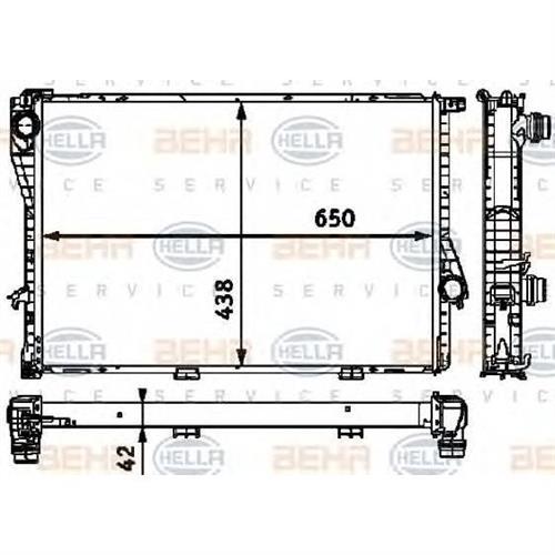 Радиатор BEHR HELLA SERVICE 8MK376712504