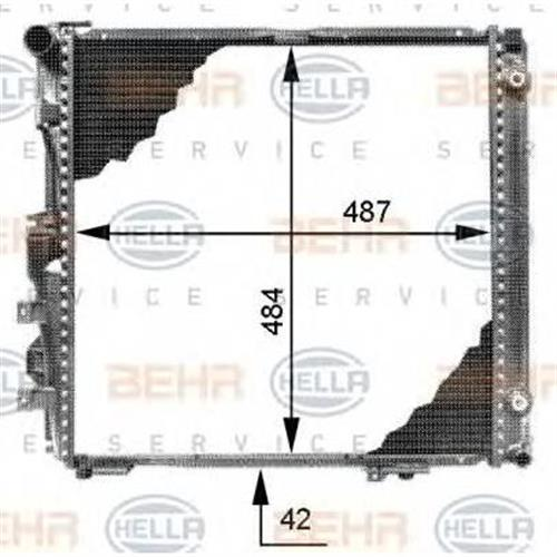 Радиатор BEHR HELLA SERVICE 8MK376713291