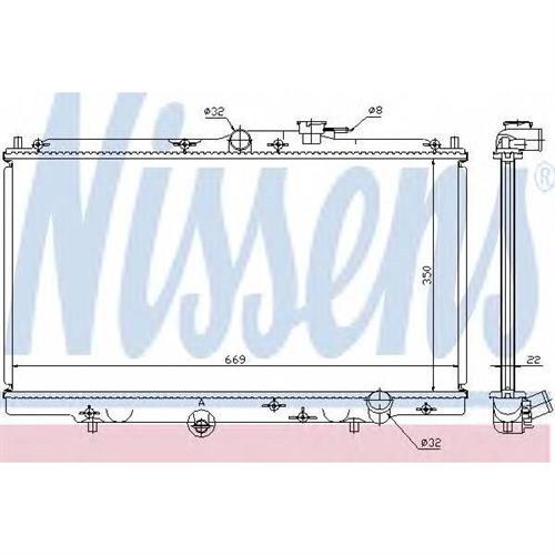 Радиатор системы охлаждения Honda Accord NISSENS 62258