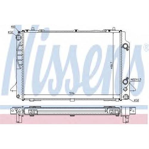 Радиатор VAG A80 2.6/2.8 92-96 NISSENS 60467A