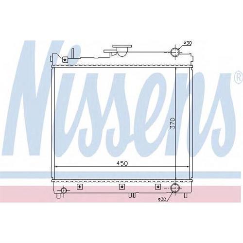 Радиатор системы охлаждения МКПП Suzuki Jimny 1.3i 16V 98 NISSENS 64162