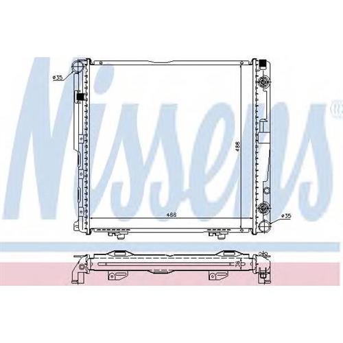 Радиатор охлаждения двигателя NISSENS 62751A