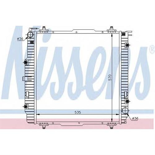 Радиатор MERCEDES W463 NISSENS 62599A