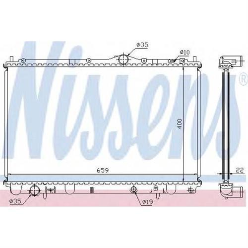 Радиатор охлаждения двигателя NISSENS 65543A
