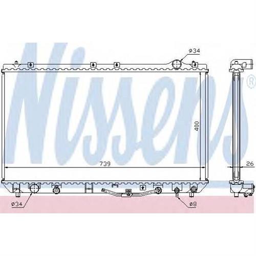 Радиатор системы охлаждения АКПП Toyota Camry 3.0 96-01 NISSENS 647541