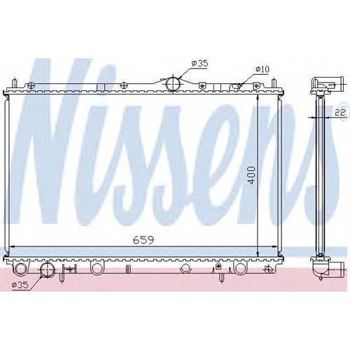 Радиатор системы охлаждения Volvo S40/V40 1.6-2.0i 16V 99-04 NISSENS 65559A