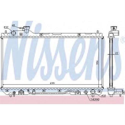 Радиатор охлаждения двигателя NISSENS 64630A