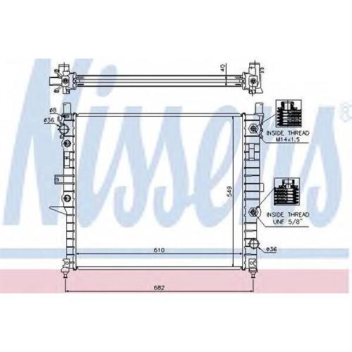 Радиатор MERCEDES W163 NISSENS 62788A