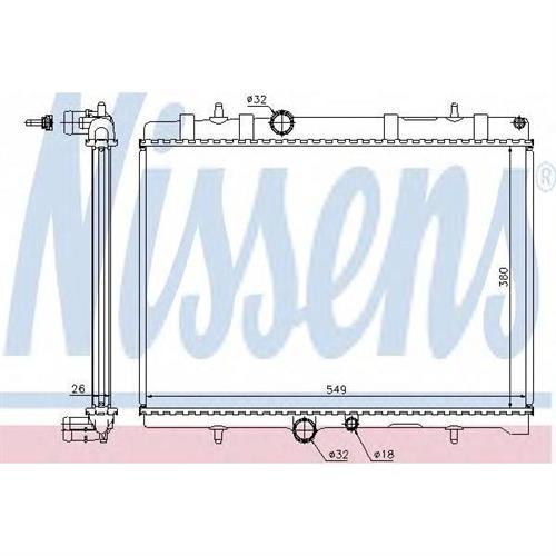 Радиатор охлаждения двигателя NISSENS 63689A