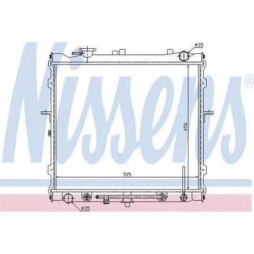 Радиатор системы охлаждения АКПП Kia Sportage 2.0 04 NISSENS 66643