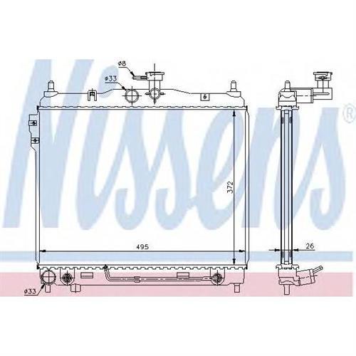 Радиатор HYUNDAI GETZ 1.6 AT NISSENS 67487
