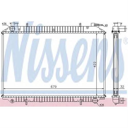 Радиатор NISSAN SERENA 1.6/2.0/2.0D 93-01 NISSENS 62908A