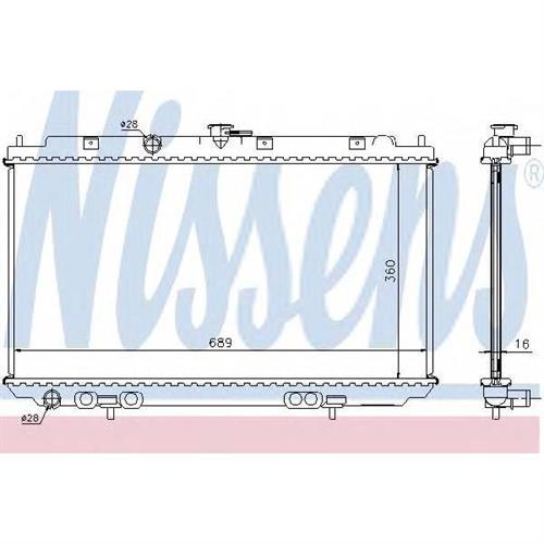 Радиатор NISSAN ALMERA N16, PRIMERA P12 NISSENS 67344A