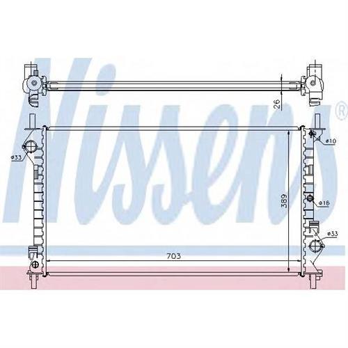 Радиатор ford TOURNEO/TRANSIT CONNECT 1.8-16V, 1.8Di MT +AC NISSENS 62021A