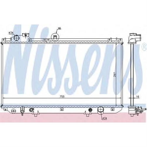 Радиатор LEXUS GS300 97-05 NISSENS 64762