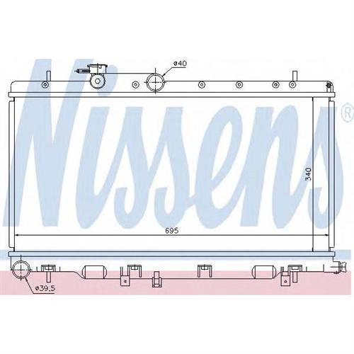 Радиатор Subaru Impreza GD/GG NISSENS 67708
