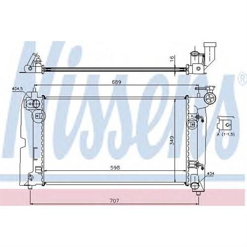 Радиатор TOYOTA COROLLA (E12) NISSENS 646321