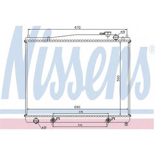 Радиатор охлаждения двигателя NISSENS 68715