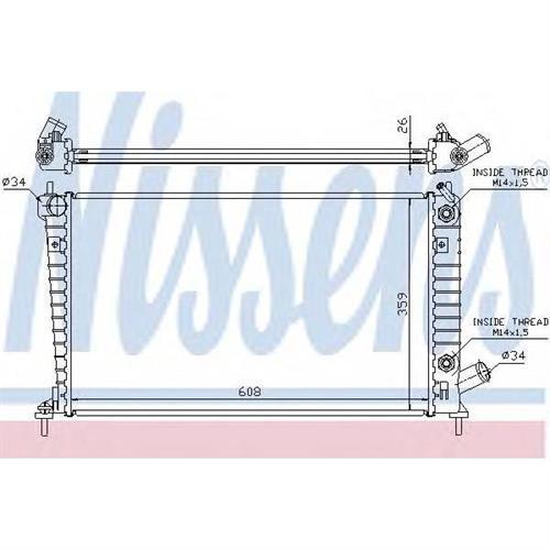 Радиатор SAAB 9-5 (97-) 2.0i-16V TURBO AT NISSENS 68005A