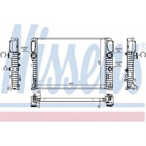 Радиатор MERCEDES W211 NISSENS 62797A
