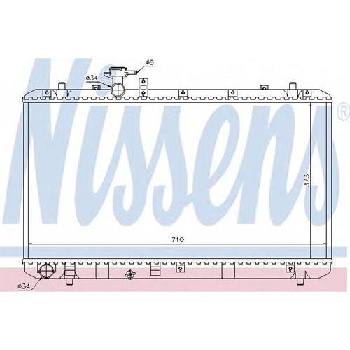 Радиатор системы охлаждения МКПП Suzuki SX4 1.5-1.6i 16V 05 NISSENS 64197