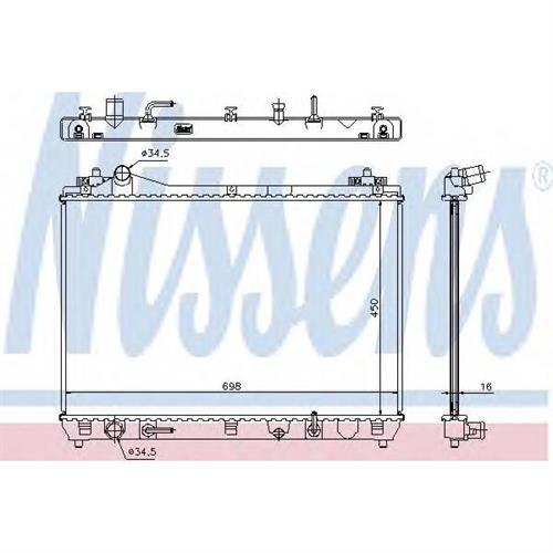 Радиатор SUZUKI GRAND VITARA II 2.0/2.4i AT (5мм система) NISSENS 64199
