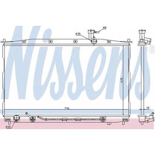 Радиатор HYUNDAI SANTA FE II 2.2CDRi, 2.7 NISSENS 67505