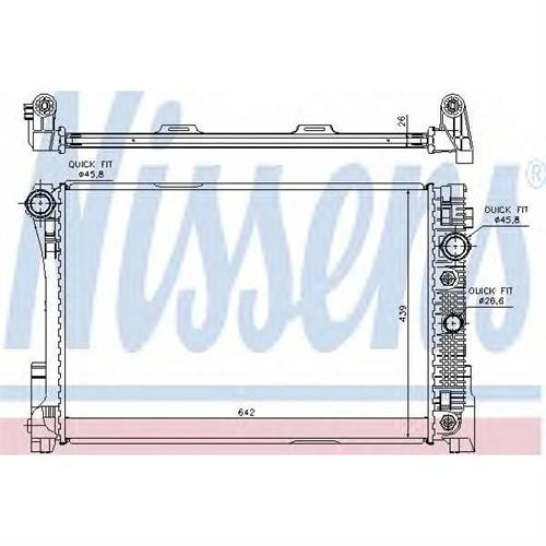 Радиатор MERCEDES W204, W212, X204 (MT) NISSENS 67168