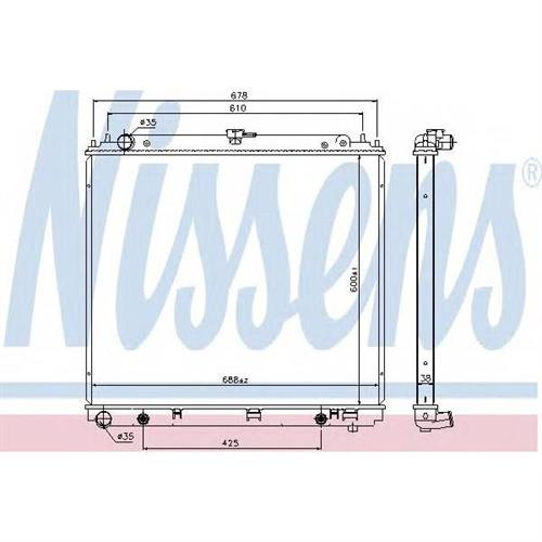 Радиатор NISSAN NAVARA (D40), PATHFINDER (R51) 2.5dCi NISSENS 68717