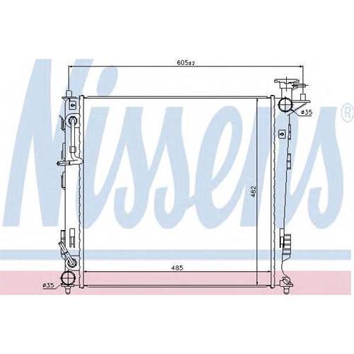 Радиатор охлаждения двигателя NISSENS 67516