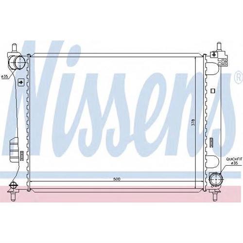 Радиатор охлаждения двигателя NISSENS 67609