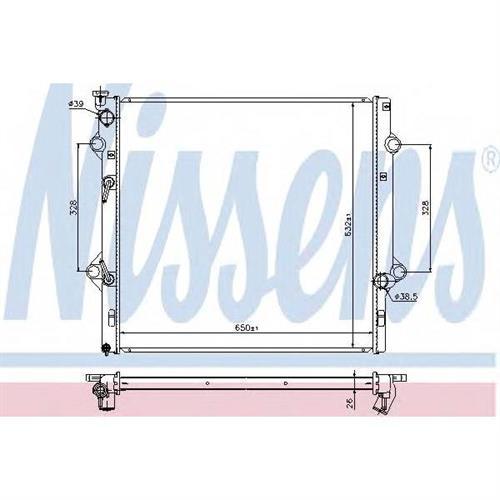 Радиатор охлаждения двигателя NISSENS 646818