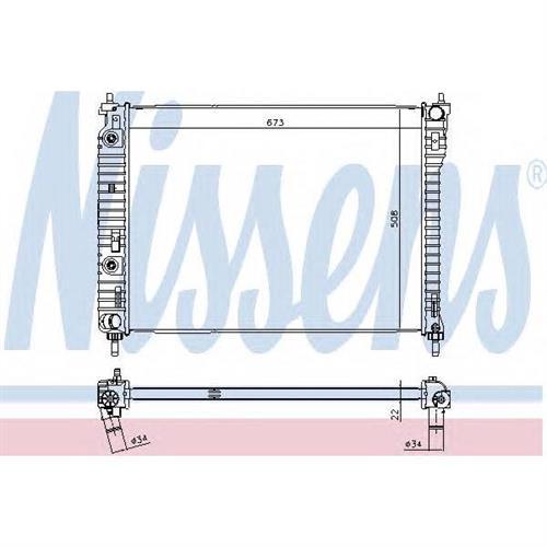 Радиатор CHEVROLET CAPTIVA, OPEL ANTARA 2.4-3.2 AT NISSENS 61688